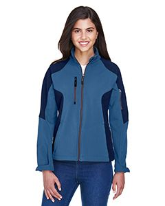 Ladies Compass Colorblock Three-Layer Fleece Bonded Soft Shell Jacket-