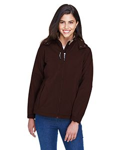 Ladies Glacier Insulated Three-Layer Fleece Bonded Soft Shell Jacket With Detachable Hood-