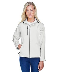 Ladies Prospect Two-Layer Fleece Bonded Soft Shell Hooded Jacket-