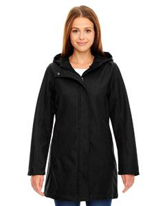 Ladies City Textured Three-Layer Fleece Bonded Soft Shell Jacket-