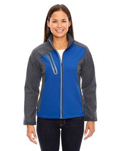 Ladies Terrain Colorblock Soft Shell With Embossed Print-