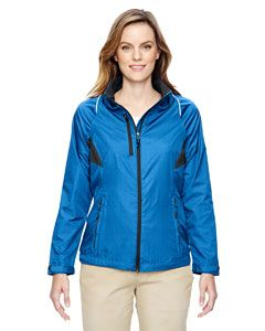 Ladies Sustain Lightweight Recycled Polyester Dobby Jacket With print-
