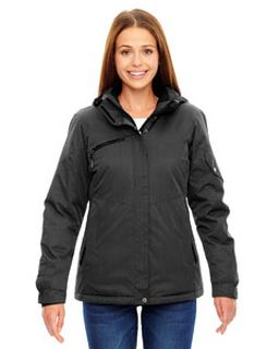 Ladies Rivet Textured Twill Insulated Jacket-