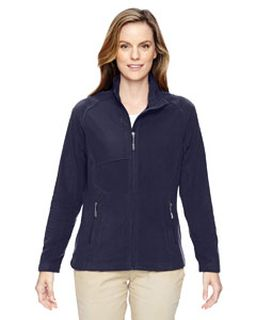 Ladies Excursion Trail Fabric-Block Fleece Jacket-