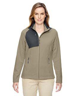 Ladies Excursion Trail Fabric-Block Fleece Jacket-North End
