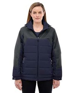Ladies Excursion Meridian Insulated Jacket With Melange Print-