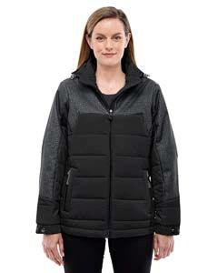 Ladies Excursion Meridian Insulated Jacket With Melange Print-