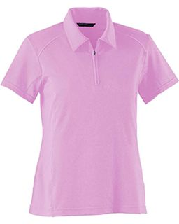 Ladies Poly Spandex Polo With Mesh-