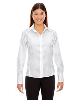 Ladies Legacy Wrinkle-Free Two-Ply 80s Cotton Jacquard Taped Shirt-