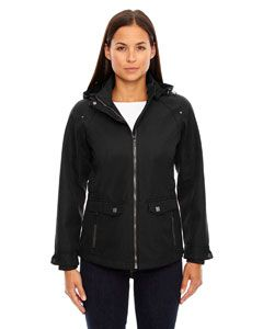 Ladies Uptown Three-Layer Light Bonded City Textured Soft Shell Jacket-