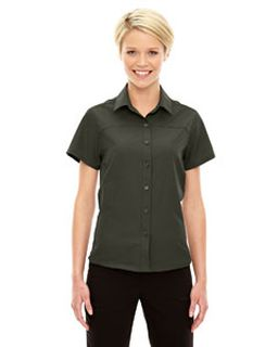 Ladies Charge Recycled Polyester Performance Short-Sleeve Shirt-North End