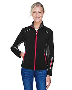 Ladies Pursuit Three-Layer Light Bonded Hybrid Soft Shell Jacket With Laser Perforation-