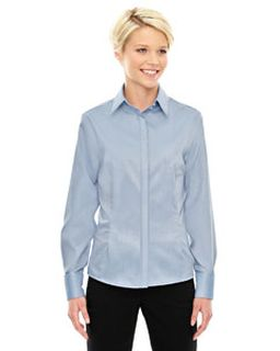 Ladies Refine Wrinkle-Free Two-Ply 80s Cotton Royal Oxford Dobby Taped Shirt-