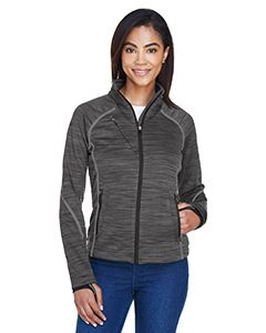 Ladies Flux Melange Bonded Fleece Jacket-