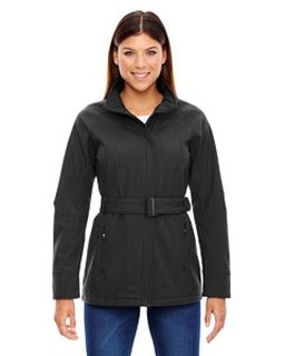 Ladies Skyscape Three-Layer Textured Two-Tone Soft Shell Jacket-