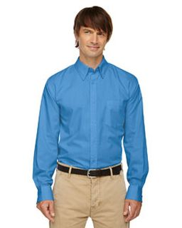 Mens Yarn-Dyed Wrinkle-Resistant Dobby Shirt-