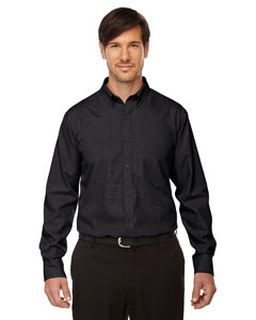 Echelon mens Wrinkle Resist Cotton Blend Houndstooth Taped Shirt-