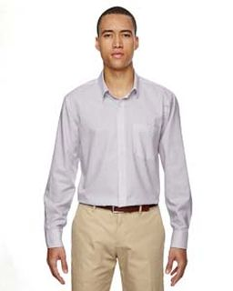 Mens Paramount Wrinkle-Resistant Cotton Blend Twill Checkered Shirt-