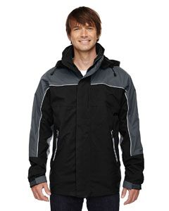 Adult 3-In-1 Seam-Sealed Mid-Length Jacket With Piping-