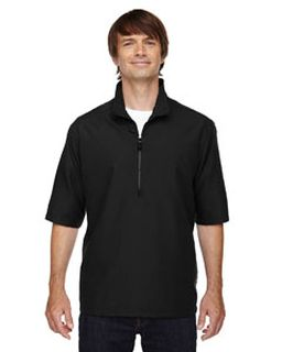 Mens M·i·c·r·o Plus Lined Short-Sleeve Wind Shirt With Teflon®-