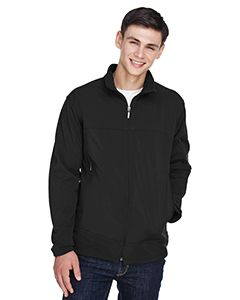 Mens Three-Layer Fleece Bonded Performance Soft Shell Jacket-