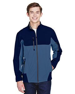 Mens Compass Colorblock Three-Layer Fleece Bonded Soft Shell Jacket-