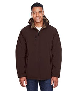Mens Glacier Insulated Three-Layer Fleece Bonded Soft Shell Jacket With Detachable Hood-North End