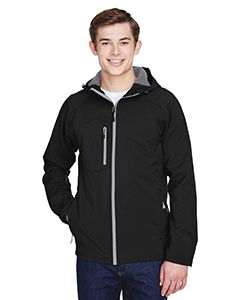 Mens Prospect Two-Layer Fleece Bonded Soft Shell Hooded Jacket-North End