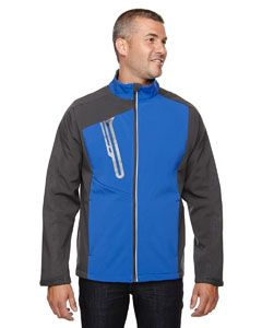 Mens Terrain Colorblock Soft Shell With Embossed Print-
