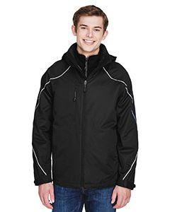 Mens Angle 3-In-1 Jacket With Bonded Fleece Liner-