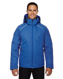 Mens Linear Insulated Jacket With Print-