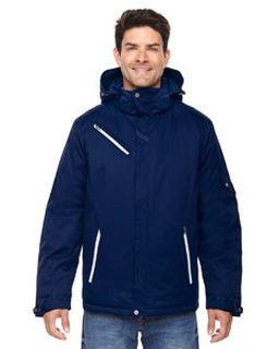 Mens Rivet Textured Twill Insulated Jacket-