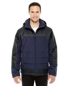 Mens Excursion Meridian Insulated Jacket With Melange Print-
