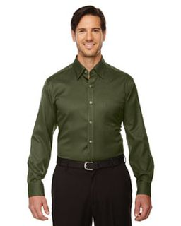 Mens Legacy Wrinkle-Free Two-Ply 80s Cotton Jacquard Taped Shirt-