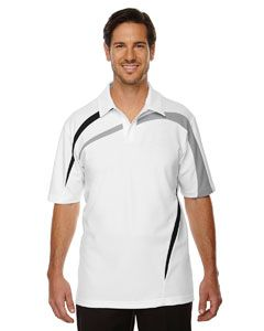 Mens Impact Performance Polyester Pique Colorblock Polo-North End
