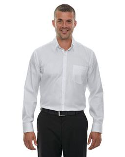 Mens Wrinkle-Free Two-Ply 80s Cotton Taped Stripe Jacquard Shirt-