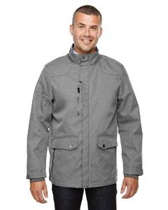 Mens Uptown Three-Layer Light Bonded City Textured Soft Shell Jacket-North End