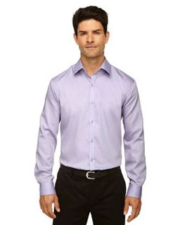 Mens Boulevard Wrinkle-Free Two-Ply 80s Cotton Dobby Taped Shirt With Oxford Twill-