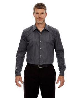 Mens Boardwalk Wrinkle-Free Two-Ply 80s Cotton Striped Tape Shirt-