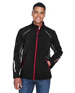 Mens Pursuit Three-Layer Light Bonded Hybrid Soft Shell Jacket With Laser Perforation-