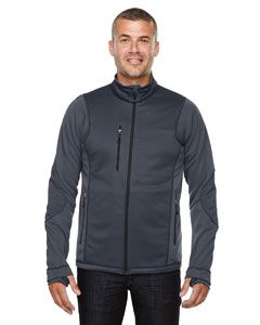 Mens Pulse Textured Bonded Fleece Jacket With Print-