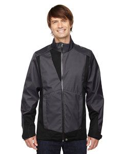 Mens Commute Three-Layer Light Bonded Two-Tone Soft Shell Jacket With Heat Reflect Technology-