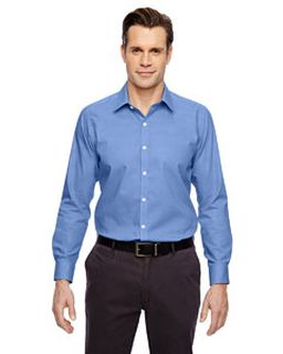 Mens Precise Wrinkle-Free Two-Ply 80s Cotton Dobby Taped Shirt-North End