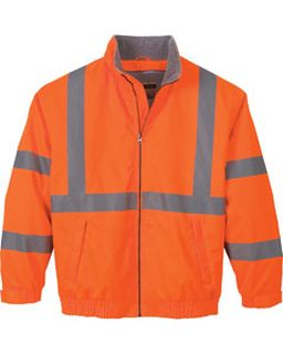 Mens Vertical Stripe Insulated Safety Jacket-