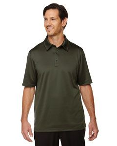 Mens Exhilarate Coffee Charcoal Performance Polo With Back Pocket-