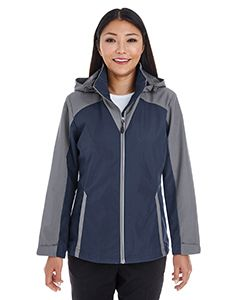Ladies Embark Interactive Colorblock Shell With Reflective Printed Panels-