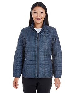 Ladies Portal Interactive Printed Packable Puffer Jacket-North End