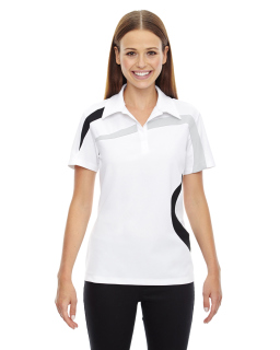 Ladies Impact Performance Polyester Pique Colorblock Polo