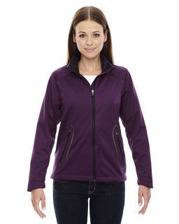 Ladies Splice Three-Layer Light Bonded Soft Shell Jacket With Laser Welding