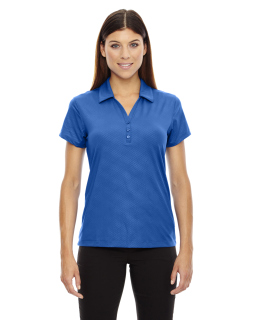 Ladies Maze Performance Stretch Embossed Print Polo